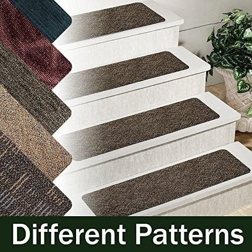 Stair Treads Carpet Non Slip Ideas On Foter | Indoor Outdoor Carpet Stair Treads | Rug | 26 Inch | Ottomanson Jardin | Walmart | Anti Slip Stair