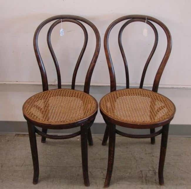 bentwood cane seat chairs chair repair parts antique ideas on foter 397 two auction est