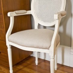 Cane Barrel Chair Round Oversized Swivel Back Arm - Foter