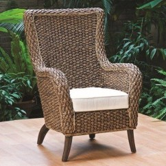 High Back Wicker Chair Cushions Ted Modern Barrel Arm - Foter