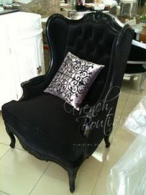 Velvet Wingback Chair  Foter