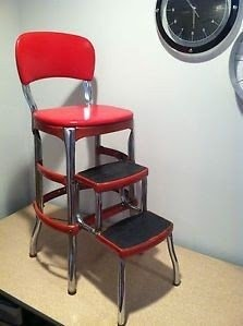 kitchen step rooms to go tables chrome stool ideas on foter cosco stylaire red chair mid century
