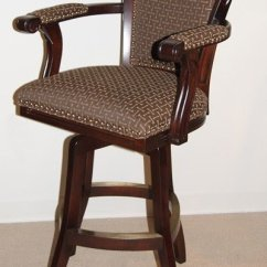 Bar Chairs With Arms And Backs Best Potty Chair For Boys Upholstered Arm Swivel Stool Ideas On Foter High Back Stools