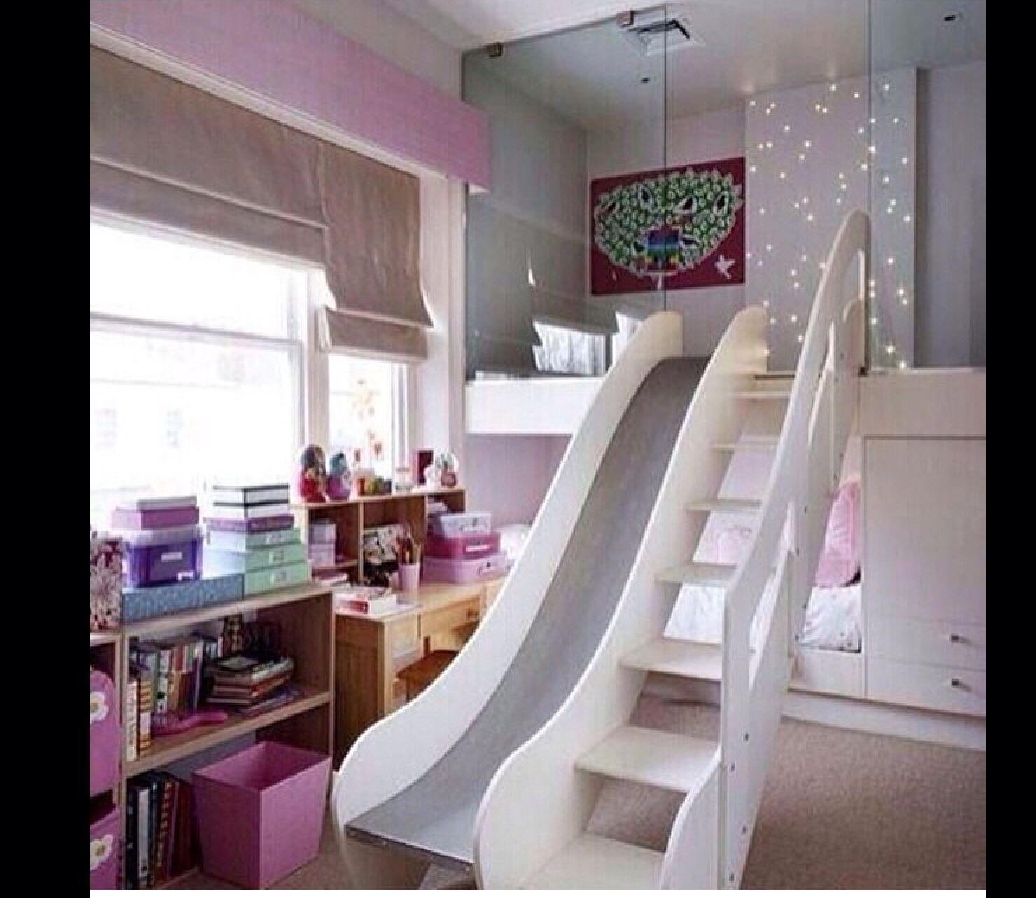 bunk bed with stairs and slide ideas