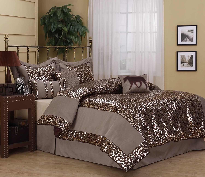 Rose Gold Leopard Print Bedding   Novocom.top