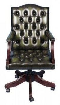 Green Leather Desk Chair - Foter