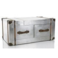 Metal Trunk Coffee Table - Foter