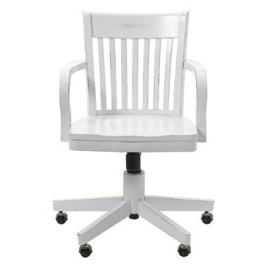 white wooden chair for desk back pain office swivel chairs ideas on foter