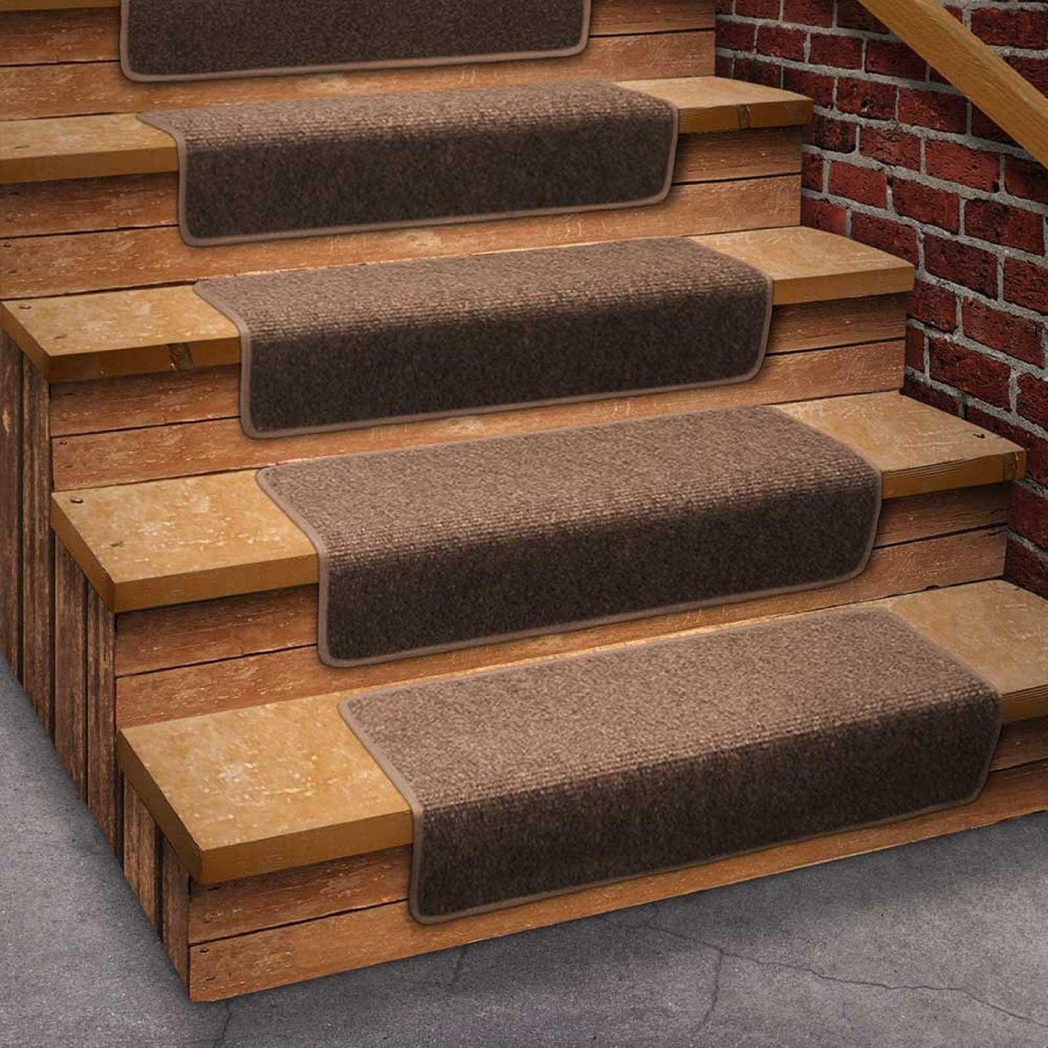 Carpet Treads For Wood Stairs Ideas On Foter | Grey Carpet Treads For Stairs | Wool Carpet | Indoor Outdoor | Skid Resistant | Custom Stair | Rugs