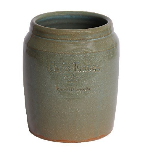 kitchen crock unfinished wall cabinets ceramic utensil holder ideas on foter pottery