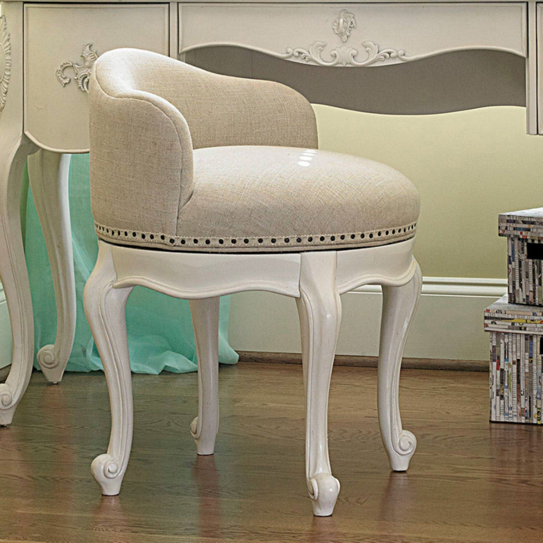 swivel vanity chair cheap lounge for pool ideas on foter smartstuff bellamy stool daisy white