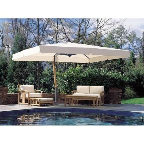 rectangular cantilever umbrella ideas