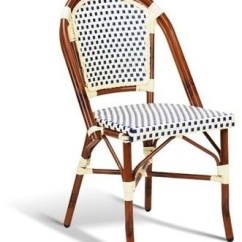 French Rattan Bistro Chairs Blue Living Room Ideas On Foter Outdoor Cafe Decormore Net