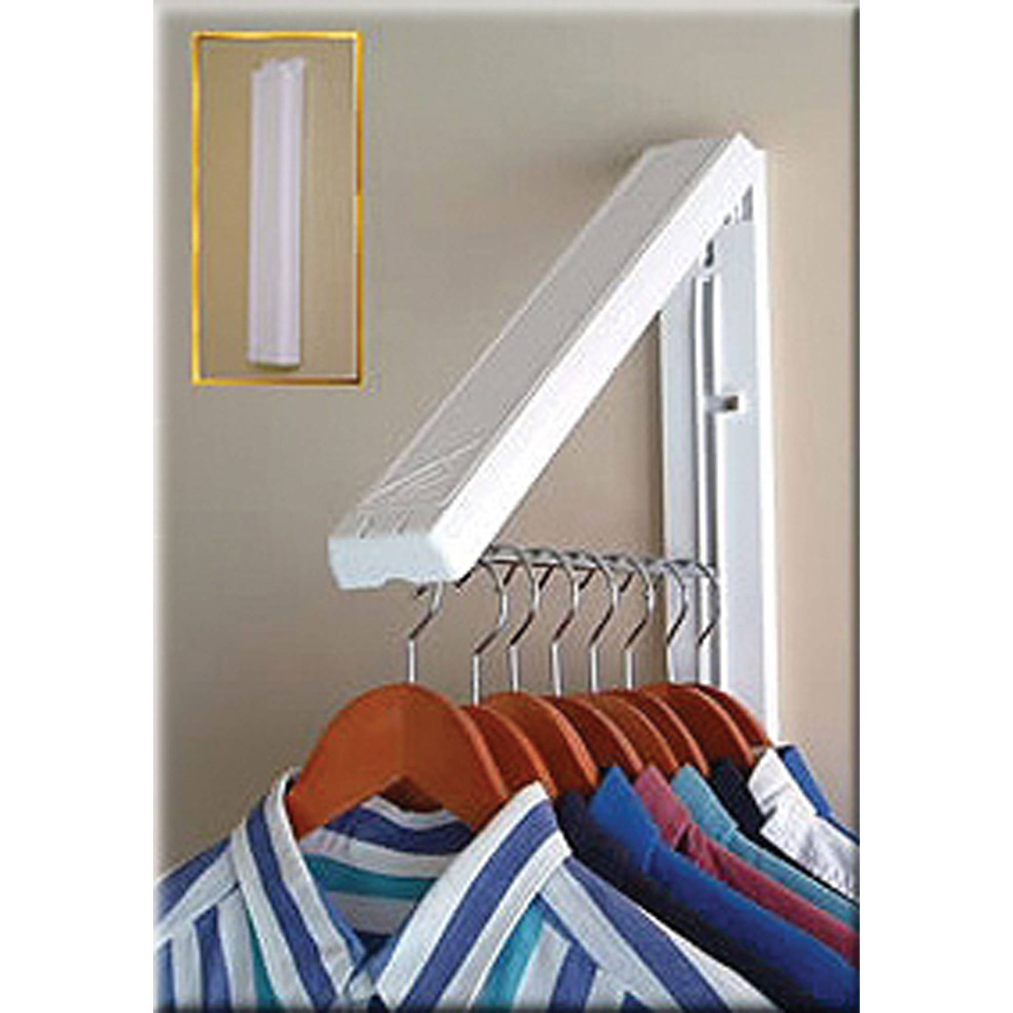 laundry room retractable drying rack