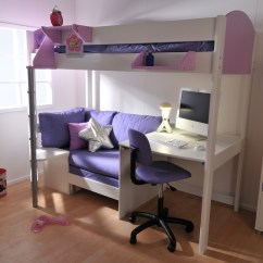 Loft Bed With Desk And Futon Chair Ektorp Covers Ikea Bunk Ideas On Foter Metal High Sleeper