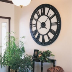 Living Room Clocks Next Paint Color Ideas With Tan Furniture Oversized Wall On Foter 1