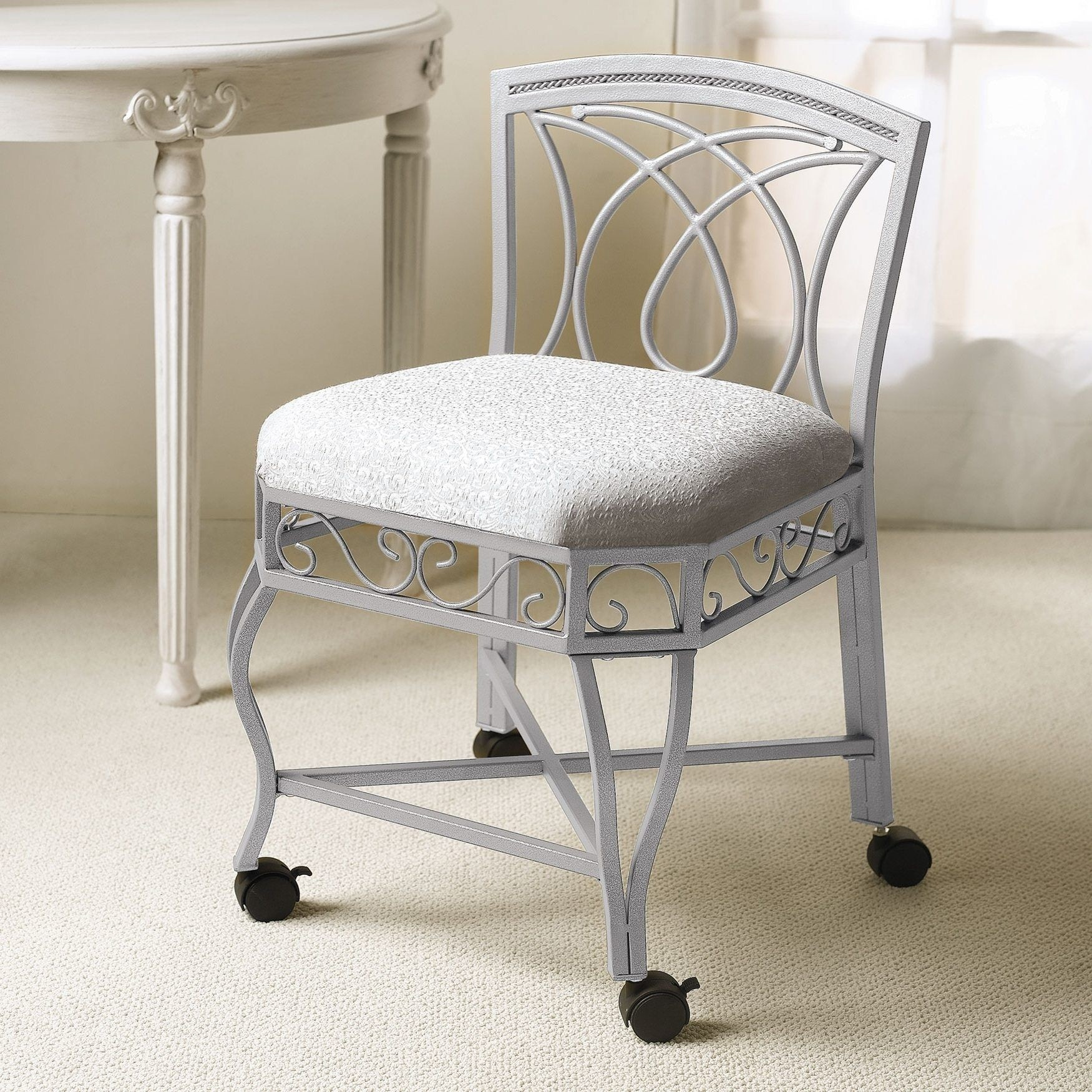bathroom vanity chairs wedding chair covers wholesale ideas on foter with wheels uploaded by famous design