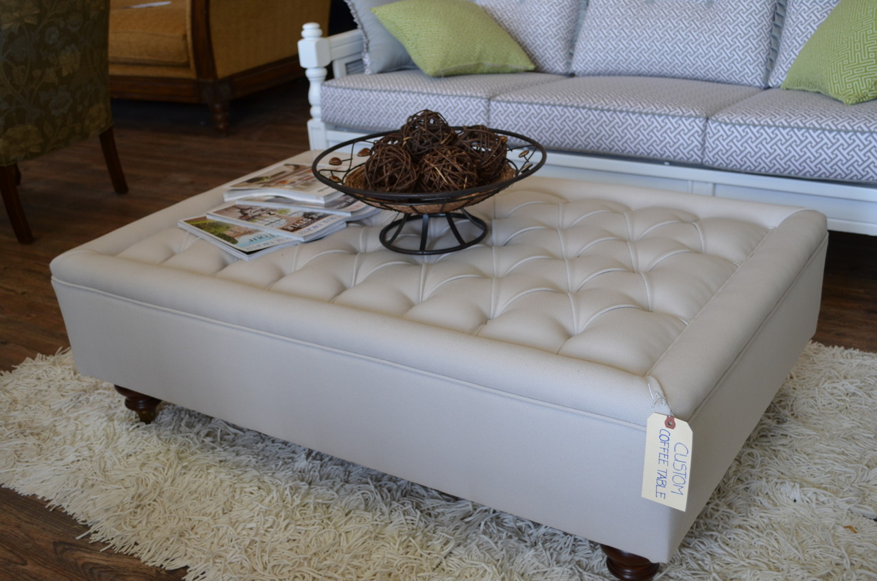 round tufted ottoman coffee table