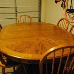 Round Oak Table And Chairs Black White Chevron Bean Bag Chair Oval Dining For 6 Ideas On Foter Tables