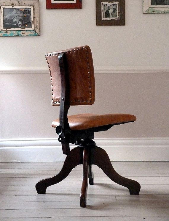 desk chair brown leather big lots beach chairs arm ideas on foter