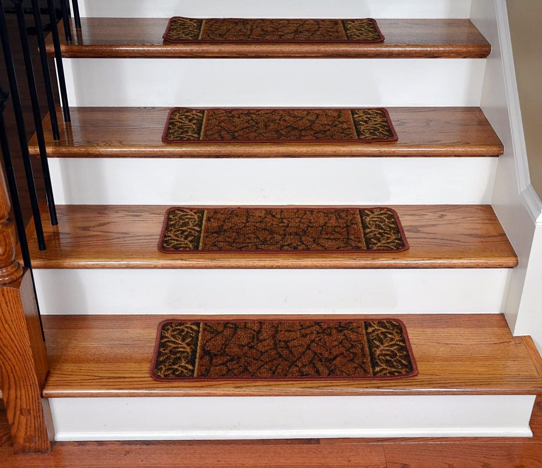 Stair Treads Carpet Non Slip Ideas On Foter | 36 Inch Carpet Stair Treads | Attachable Indoor | Walmart | Basement Stairs | Vanilla Cream | Pet Friendly