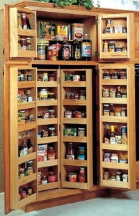 Oak Pantry Storage Cabinet