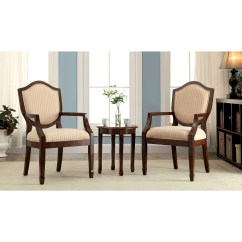 2 Accent Chairs And Table Set Desk Chair Part Crossword Striped With Arms Ideas On Foter Bernetta 3 Piece Cotton Arm Side