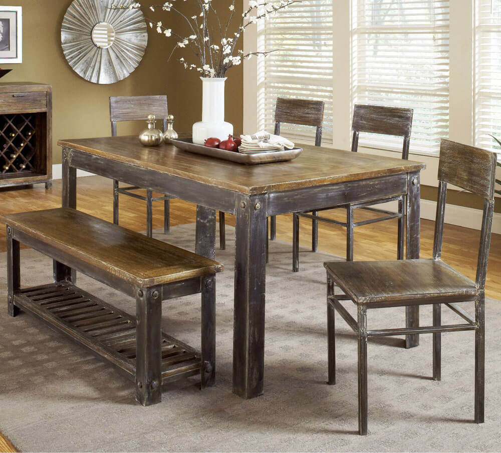 kitchen table sets lowes appliances farmhouse ideas on foter 6 piece dining set
