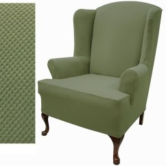 Gray Chair And Ottoman Slipcovers Office Heater Small - Foter