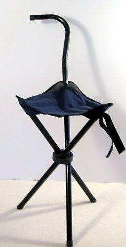 walking stick seat stool chair healthmark inversion three legged - foter