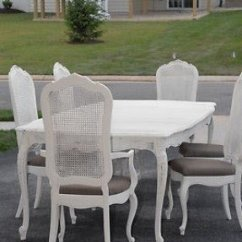 Cane Back Dining Room Chairs Papa Bear Chair Ideas On Foter Shabby Chic Vintage 1970s Thomasville Table And 6