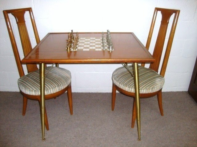 chess table and chairs pink zebra print chair tables ideas on foter 202 modern