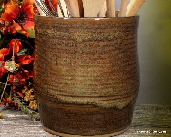 kitchen tool crock islands big lots ceramic utensil holder ideas on foter by hurricanepottery