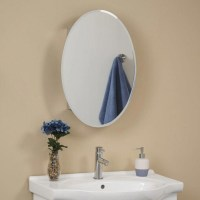 Oval Mirrored Medicine Cabinet - Foter