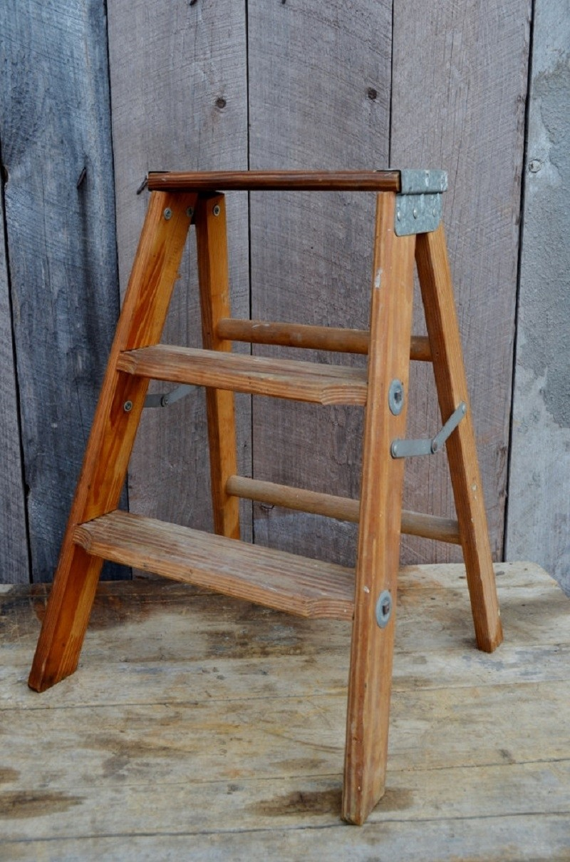 folding kitchen step stool used chairs wooden stools - foter