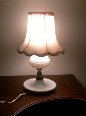 Vintage Milk Glass Lamp  Foter
