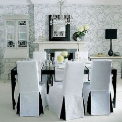 Chair Covers Gray Directors Bar Height Modern Dining Ideas On Foter White Of Room Design