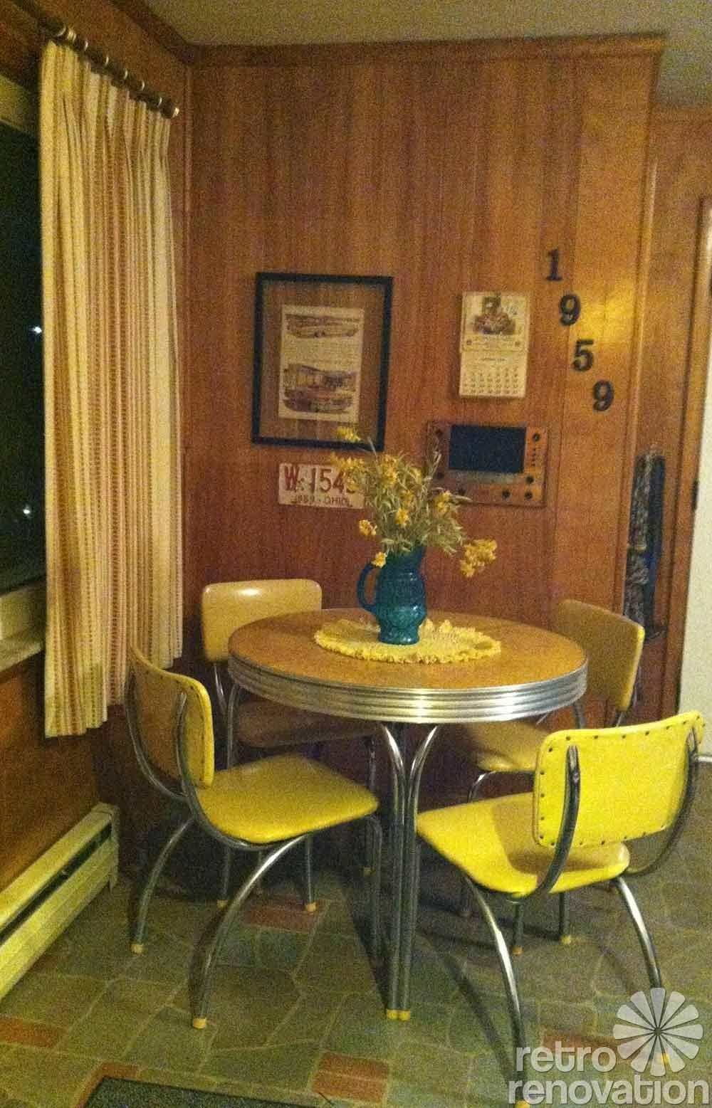 chromcraft chairs vintage chair massage pad kitchen dinette sets - foter