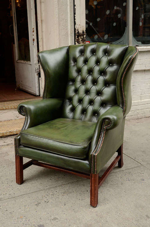 leather wingback chairs dental chair accessories india green ideas on foter 7