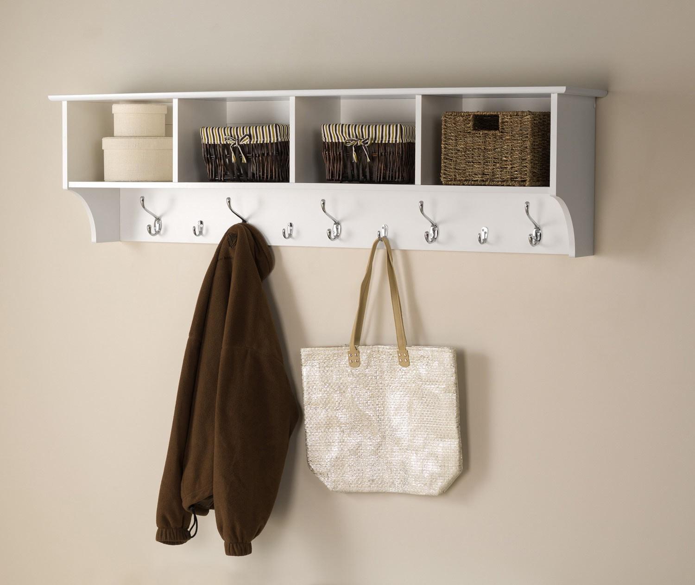 wall mounted coat racks with shelf