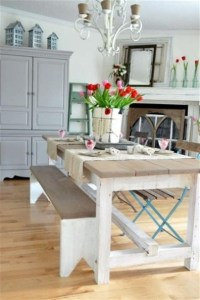 Bench Style Kitchen Table Sets - Foter