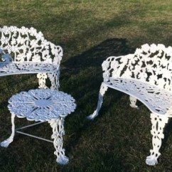 Antique Cast Iron Garden Table And Chairs Outdoor Rocking Chair Australia Patio Tables Ideas On Foter Vintage 3 Pc Furniture 2