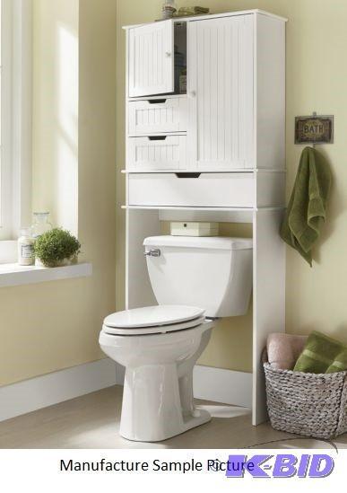 Black Bathroom Space Saver Over Toilet Foter