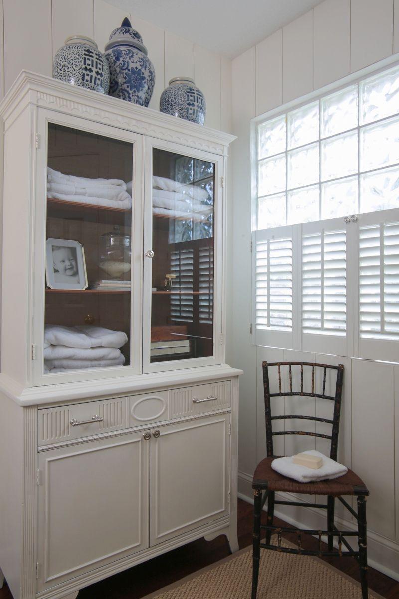 White Linen Cabinet For Bathroom
