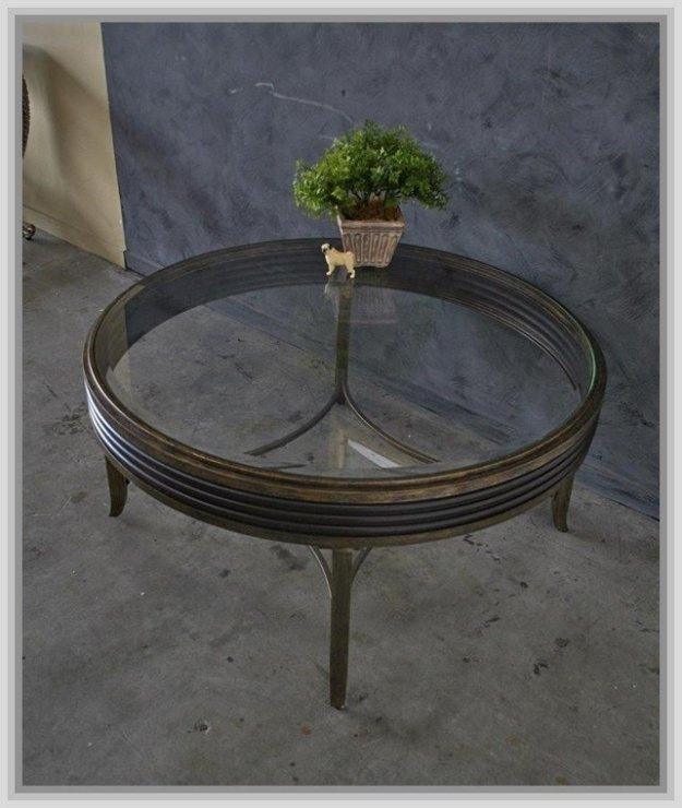 black metal and glass coffee table - foter