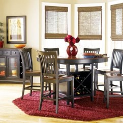 High Top Table With 6 Chairs Swing Chair Pod Dining Wine Storage Ideas On Foter Dark Black Wood Room Cherry