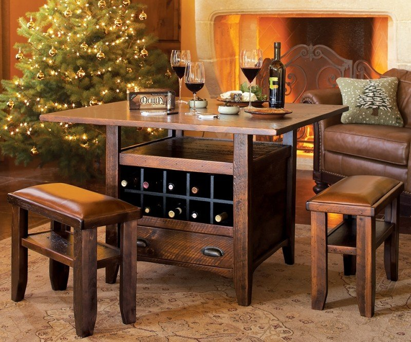 dining table with wine storage ideas