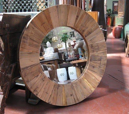 Round Mirror Wood Frame Foter