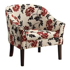 Floral Upholstered Chair Hanging Bubble Chairs Accent Ideas On Foter