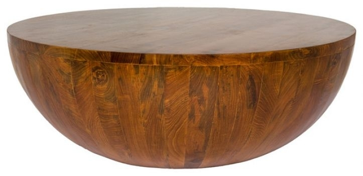 solid wood round coffee table ideas